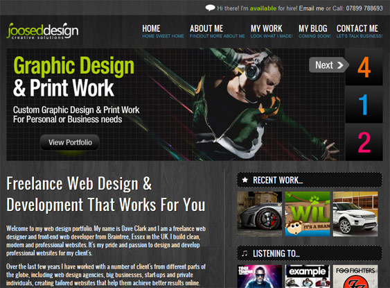 Joosed Design - Freelance Web Design & Development